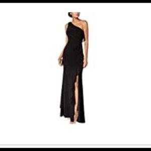 Vince Camuto one shoulder long black dress Size 2